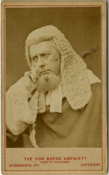Carte de visite  of Sir Richard Paul Amphlett (1809-1883) English barrister and politicianThe London Stereoscopic & Photographic Company, 1875? London, England