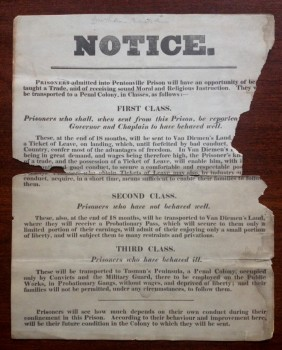 Notice to Pentonville Prisoners. London, 1842-1862? HOLLIS 9095766.