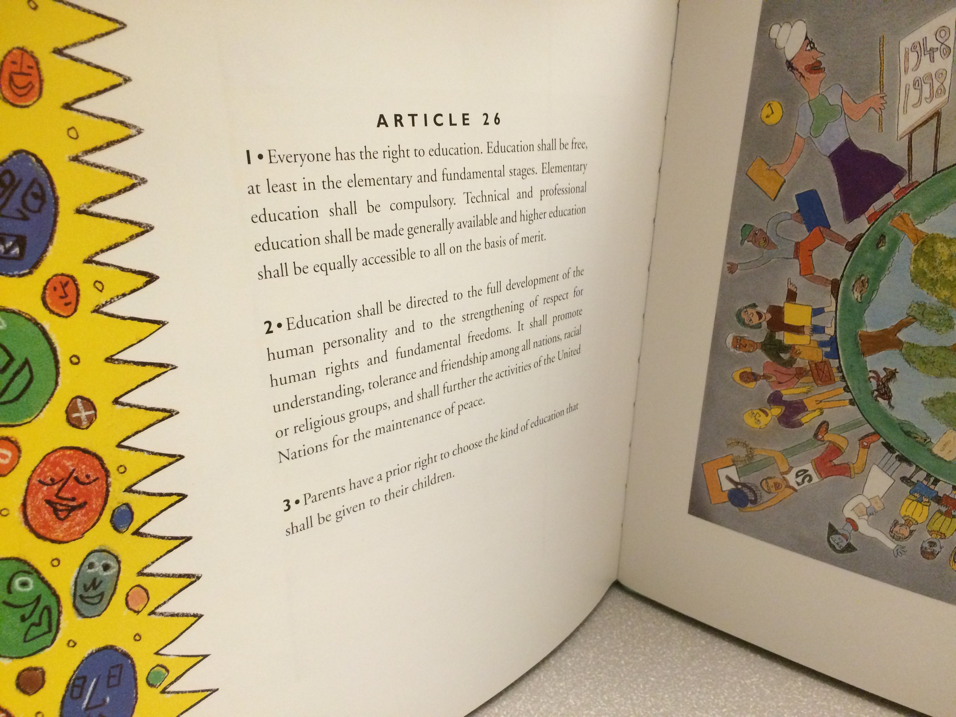 852 rare colorful collections picture books in historical universal declaration of human rights illustrated by william wilson
