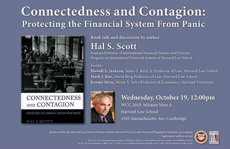 Hal Scott Book Talk Poster